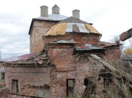 Купол Печерской церкви после
