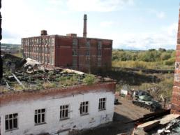 Руины бывшей фабрики «Красный Текстильщик»